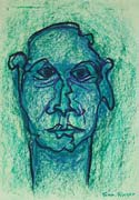 Face 13, original pastel on paper by Filip Finger
