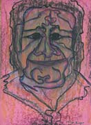 Face 14, original pastel on paper by Filip Finger