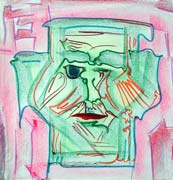 Face 3, original pastel on paper by Filip Finger