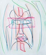 Face 4, original pastel on paper by Filip Finger