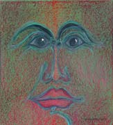 Face 16, original pastel on paper by Filip Finger