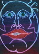 Face 8, original pastel on paper by Filip Finger